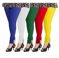 Womens Ladies Plain Full Length Leggings Size 8 to 26