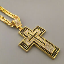 Gold Long Sweater Chain Valentine'S Day Cross Necklace Jewelry For Women Men'S