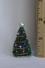 "Tiny Dollhouse Miniature CHRISTMAS TREE  <2"" tall  small scale 1:48 1/4"" scale"