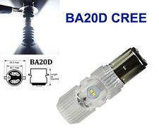 H6 BA20d 4 CREE LED Motorcycle 6000K Hi/Lo Bi-xenon Headlight Upgrade Kit 1400LM