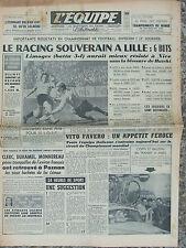 L'Equipe du 28/8/1958 - Foot : le Racing - Cyclisme : les Italiens à Reims