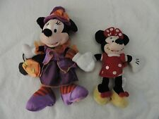 New listing Lot of 2 Disney Minnie Mouse Halloween Plush Trick or Treat Parks Dolls 2008