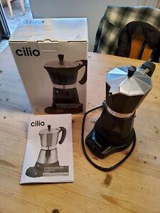 Elektrischer Espressokocher Cilio Classico 273861 schwarz - für 6 Tassen