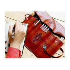 High Capacity Tool Storage Bag Pencil Pen Case Make-up Purse PU Leather Clutch