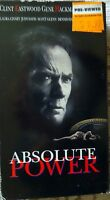 VHS movie ABSOLUTE POWER