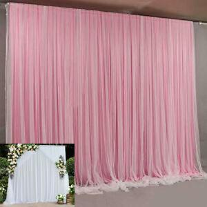 Ice Silk Backdrop Curtain Detachable Swag Drape Event Wedding Party Handing Deco