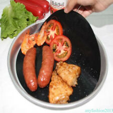 1pcs redondo Teflon antiadherente bandeja de la sartén Fry Liner hoja de cocina
