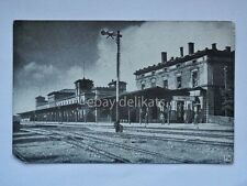 ELFRINGEN BAHNHOF TRENO STATION TRAIN Feldpost 124 old postcard AK