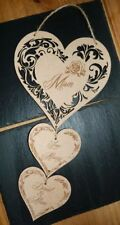 PERSONALISED MOTHER'S DAY GIFT WOODEN HEART WALL HANGING DECOR 2018