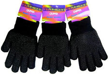 3 Pairs Magic Gripper Gloves Acrylic Thermal Mens Ladies Driving One Size Unisex
