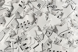 Star Wedding Table Confetti/Decoration - Sheet Music/Notes/Rustic/Vintage Chic