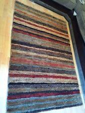 John Lewis Rugby Stripe Jute rug Runner 240x70