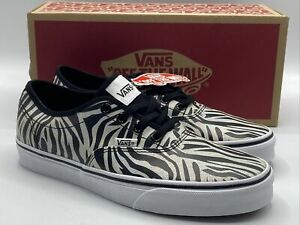 Vans Zebra Stripe Doheny Decon Women's Size 8.5 Metallic  Design Skate Shoe New