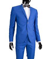 Slim Fit Herrenanzug Klassisch in Blau -Smoking-Anzug-Hochzeit-Bühne-Sakko