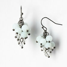 NEW! Simply VERA WANG Geen Ice & Clear Beaded Cluster Earrings FREE SHIPPING!