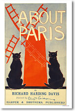 About Paris - Richard Harding Davis - Poster