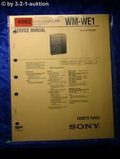 Sony Service Manual WM WE1 Cassette Player (#4562)