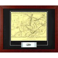 2nd Battle Of Bull Run Manassas Framed Map With Authentic Civil War Bullet Coa