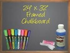 "24"" X 32"" Black Chalkboard-8 Liquid Neochalk Markers-Neoplex Spray Cleaner/Cloth"