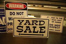 5 x Yard Garage Rummage Sale sign Custom vinyl Print Changeable arrow