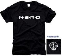 NERD - N.E.R.D. NERDY - KULT -  T-Shirt, Gr. S bis XXXL