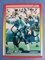 Steve Walsh Dallas Cowboys 1990 Score autographed Football Card