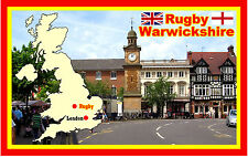 RUGBY, WARWICKSHIRE - SOUVENIR NOVELTY FRIDGE MAGNET - SIGHTS - NEW/GIFT