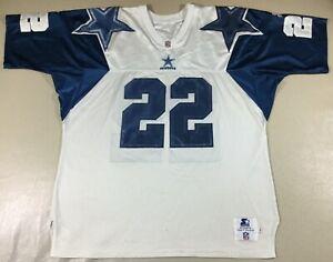Vintage 90's Dallas Cowboys Emmitt Smith #22 Football-NFL Starter Jersey Size52