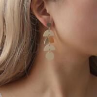 Fashion Geometric Elements Sequins Pendant Tassel Drop Gypsy Ethnic Earrings  W