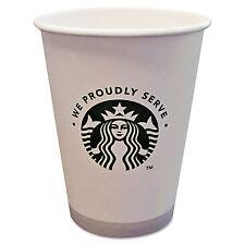 Starbucks Hot Cups 12oz White with Green Logo 1000/Carton 11033279