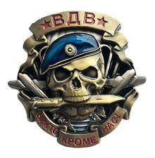 Russian VDV Airborne Forces Large Heavy Metal Screw Back Original Badge