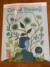ISE Critical Thinking by Brooke Moore And Richard Parker: Lightly Used 13E