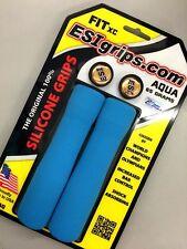 ESI FIT XC Silicone MTB Mountain Bike Bicycle Handlebar Bar Grips / 65g - Aqua