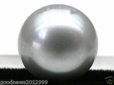 Genuine Natural 13mm AAA+++ Silver Gray Loose  Bread Pearl Half Drilled