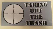 TAKING OUT THE TRASH  Anti-Obama Pro Gun Bumper Sticker  WB