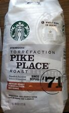 Starbucks TWO 2.5 LB Bags, 80 oz, Pike Place Medium Roast Coffee Whole Bean 2018
