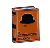 A Clockwork Orange Book Enamel Pin Horror Movie Pin Retro Halloween Lapel Pin