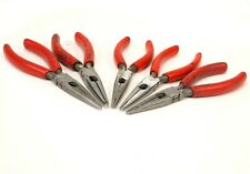 """Snap-On 96BCP 7"""" Long Needle Nose Pliers w/Red Cusion Grips. Emblem wipe off"""