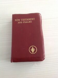 New Testament and psalms by the Gideons