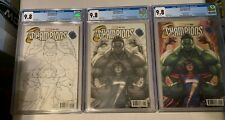Champions #1 Legacy Edition Artgerm Color, Copic & Inked Variant Set ALL CGC 9.8