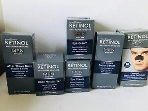 Retinol MEN Anti-Aging Skincare Serum Cream After Shave Balm Eye Cr NEW U Pick
