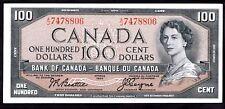 Canada; Bank of Canada. 100 dollars, 1954. A/J 7478806, (Pick 82a). VF-EF.