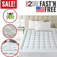 Queen Size Mattress Pad Cover Pillow Top Topper Bed Breathable Hypoallergenic