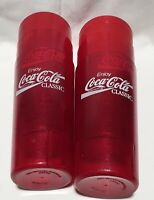 Coca Cola (2000) Red Hard Plastic Cups (set of 6) Vintage/Original