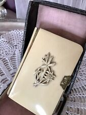 Jugendstil Gebetsbuch Elfenbein Goldschnitt Messing-Schließe edel & Original-Box