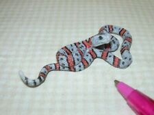 Miniature Grey Banded King Snake, TOO Real:  DOLLHOUSE Miniatures 1/12 Scale