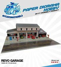 1:64 scale Revo Garage Workshop & Canopy - Diorama Building Kit for Hot Wheels