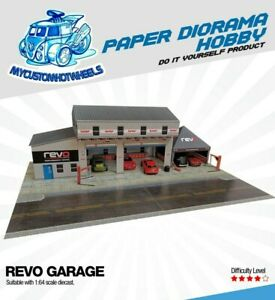 1:64 scale Revo Garage Workshop & Canopy - Diorama Building Kit for Hot Wheels