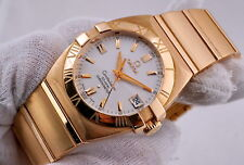 OMEGA CONSTELLATION 18K ROSE-GOLD CO-AXIAL ESCAPEMENT CHRONOMETER W/BAND 196g