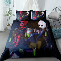 Grey Gamepad Deadpool Doona/Duvet/Quilt Cover Set Single/Double/Queen/King Bed